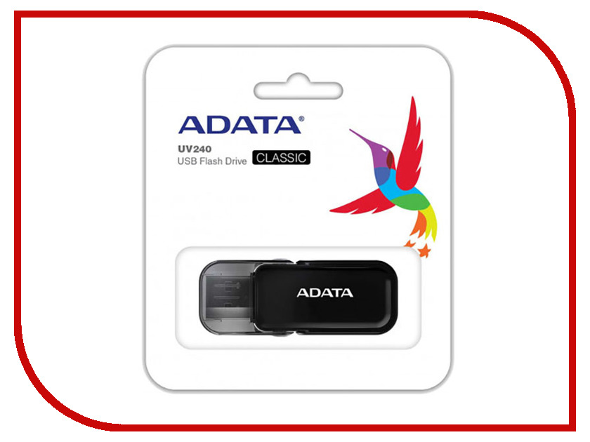 USB Flash Drive 8Gb - A-Data UV240 Black AUV240-8G-RBK цена и фото