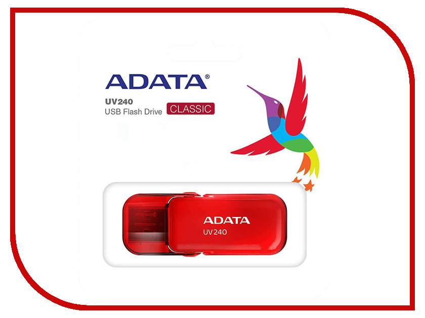 USB Flash Drive 8Gb - A-Data UV240 Red AUV240-8G-RRD цена и фото