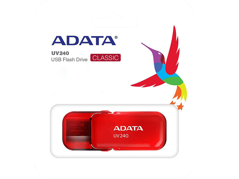 USB Flash Drive 8Gb - A-Data UV240 Red AUV240-8G-RRD mushroom shaped rubber aluminum alloy usb 2 0 flash drive red white 8gb