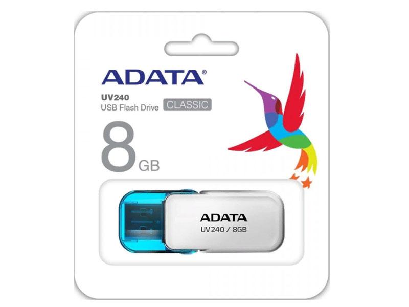 USB Flash Drive 8Gb - A-Data UV240 White AUV240-8G-RWH
