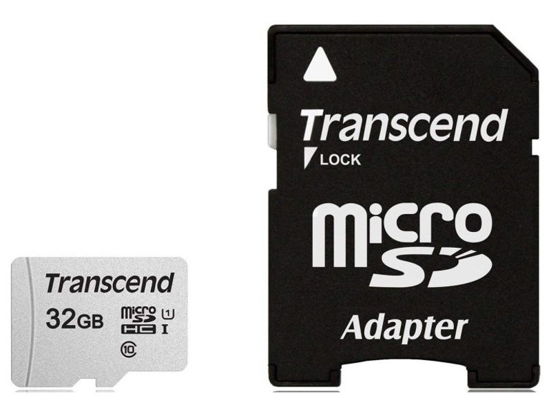 Фото - Карта памяти 32Gb - Transcend 300S MicroSDHC Class 10 UHS-I TS32GUSD300S-A карта памяти 32gb transcend high capacity class 10 secure digital ts32gsdhc10
