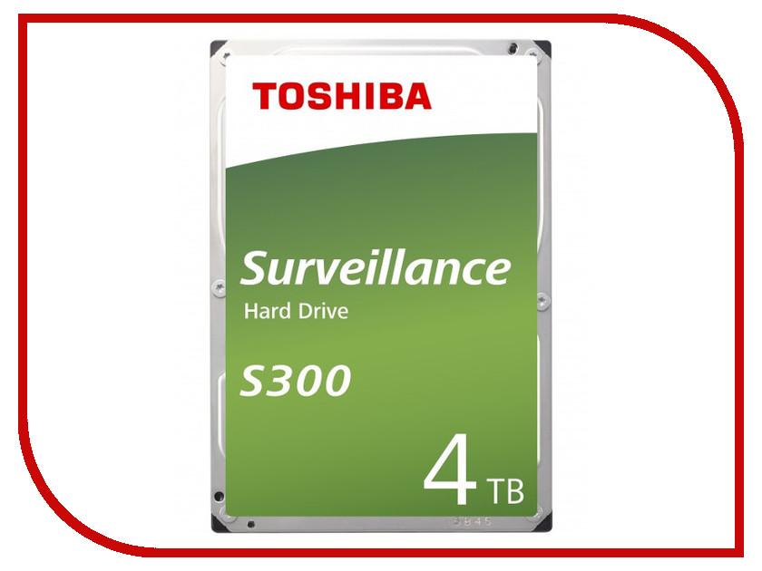 Жесткий диск 4Tb - Toshiba S300 HDWT140UZSVA жесткий диск 4tb toshiba n300 hdwq140uzsva