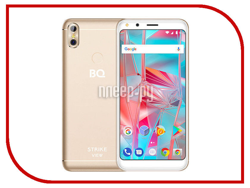 Сотовый телефон BQ 5301 Strike View Gold смартфон bq mobile bq 5301 strike view gold