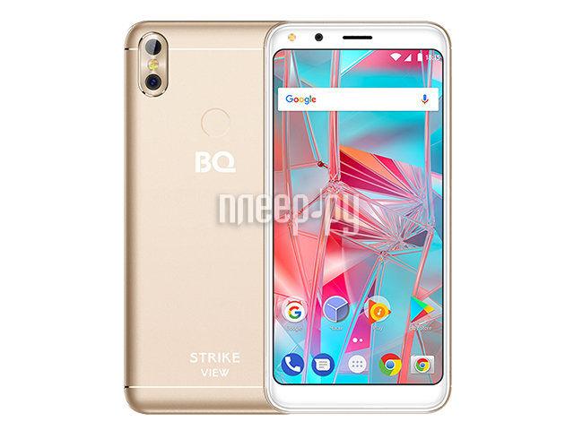 Сотовый телефон BQ 5301 Strike View Gold сотовый телефон bq aquaris v 2gb ram 16gb mist gold