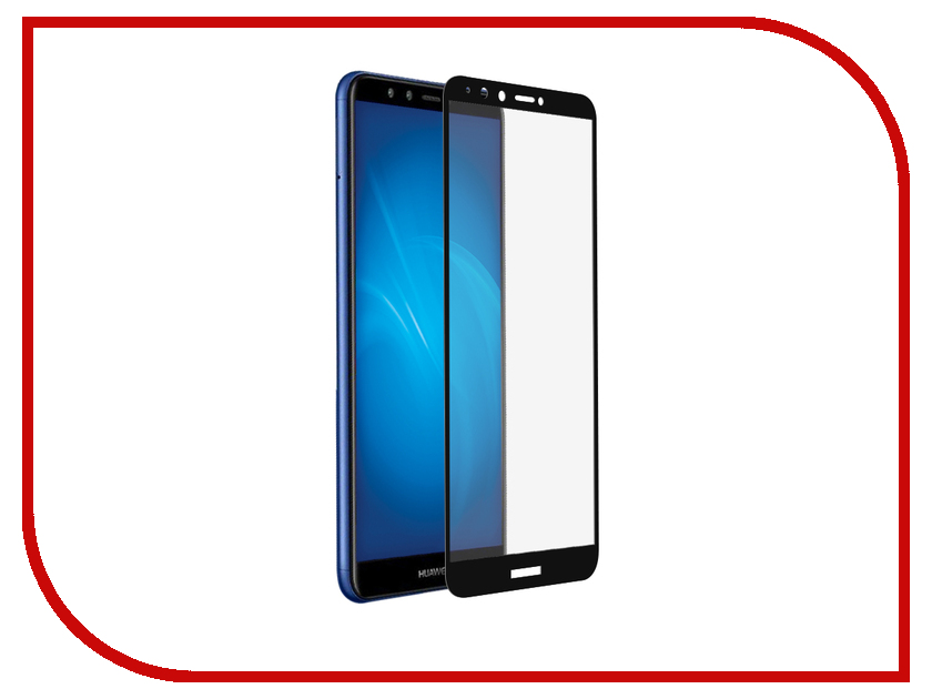 Аксессуар Закаленное стекло для Honor 7A Pro/Y6 2018/Honor 7C/Y6 Prime 2018 DF Full Screen + Full Glue hwColor-54 Black аксессуар закаленноестеклодляhonor9