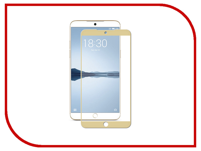 Аксессуар Защитное стекло для Meizu 15 Neypo Full Screen Glass Gold Frame NFG4710 top quality lcd display digitizer touch screen assembly for meizu u10 phone with frame free shipping with tools as gift