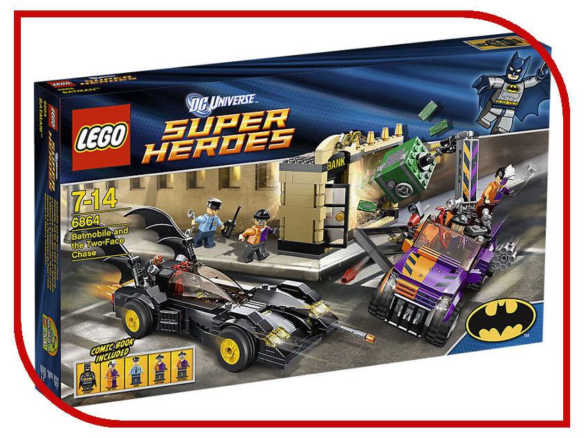 Конструктор Lego SuperDC Super HeroesБэтмен против Двуликого 6864 lego super heroes конструктор берегись стервятника 76083