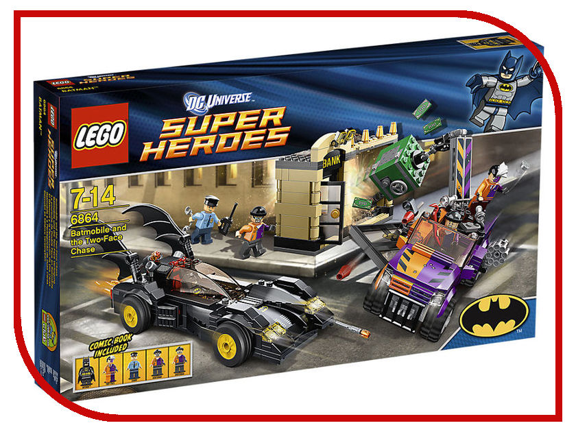 Конструктор Lego SuperDC Super HeroesБэтмен против Двуликого 6864 lego batman 2 dc super heroes [pc цифровая версия] цифровая версия
