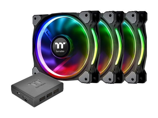 Вентилятор Thermaltake Fan Tt Premium Riing Plus 12 LED 256 Color PWM CL-F053-PL12SW-A