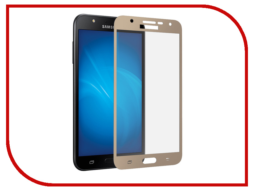 Аксессуар Защитное стекло для Samsung Galaxy J7 Neo SM-J701F Neypo Full Screen Glass Gold Frame NFG4430 смартфон samsung galaxy j7 neo black sm j701f