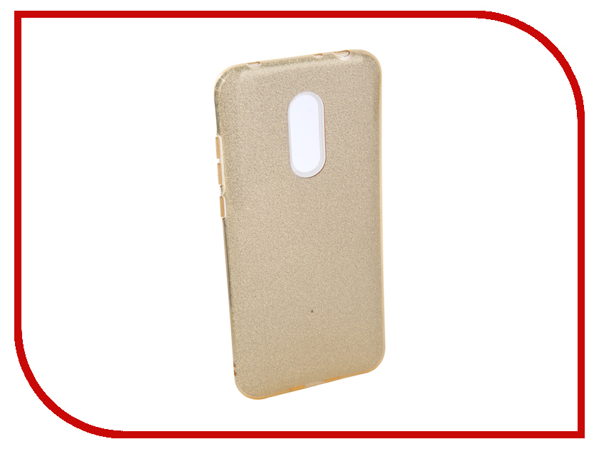 Аксессуар Чехол для Xiaomi Redmi 5 Plus Neypo Brilliant Silicone Gold Crystals NBRL4038 аксессуар чехол для xiaomi redmi 5 plus neypo soft touch с перфорацией red st4571
