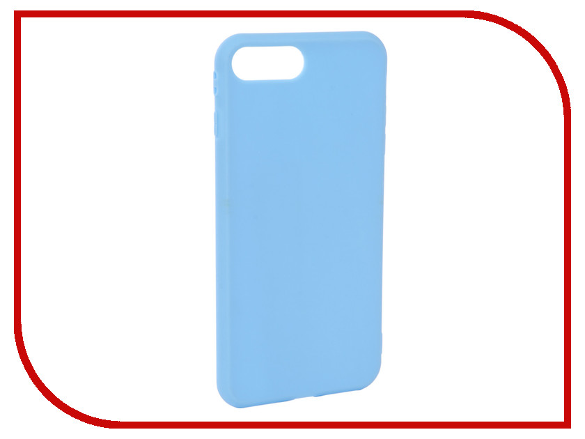 Аксессуар Чехол Neypo Silicone Soft Matte для APPLE iPhone 8+/7+ Light Blue NST4591 kinston water rose pattern protective matte plastic hard back case for iphone 4 4s blue