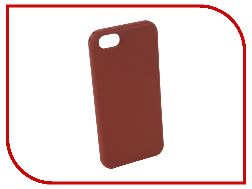Аксессуар Чехол для APPLE iPhone 5 / 5S / SE Neypo Silicone Soft Matte Brown NST4583