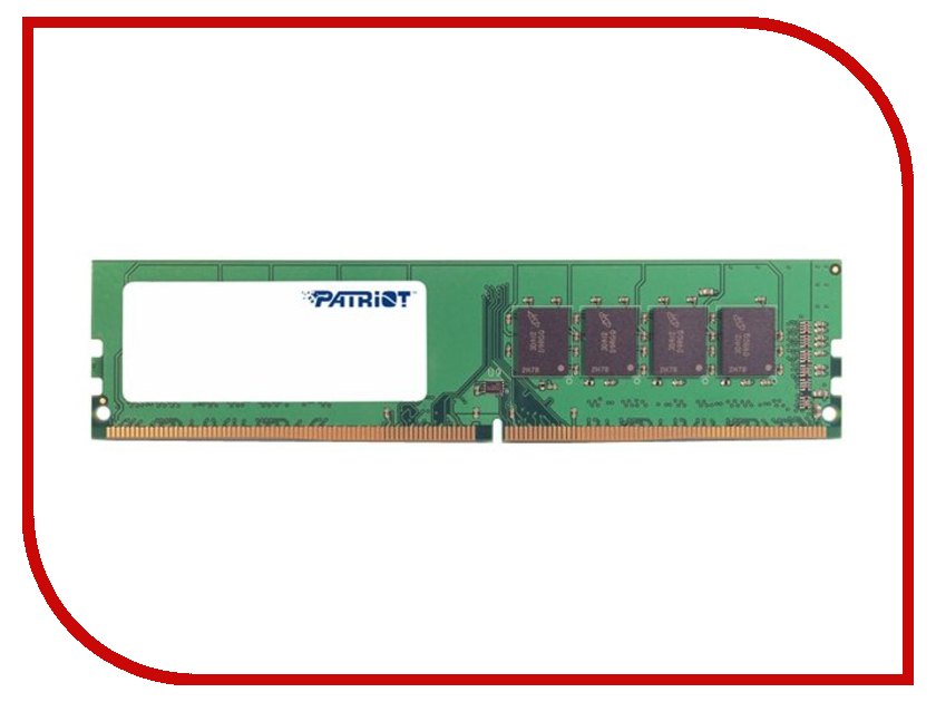 Модуль памяти Patriot Memory Signature DDR4 DIMM 2666MHz PC4-21330 CL19 - 4Gb PSD44G266681 patriot memory psd48g21332