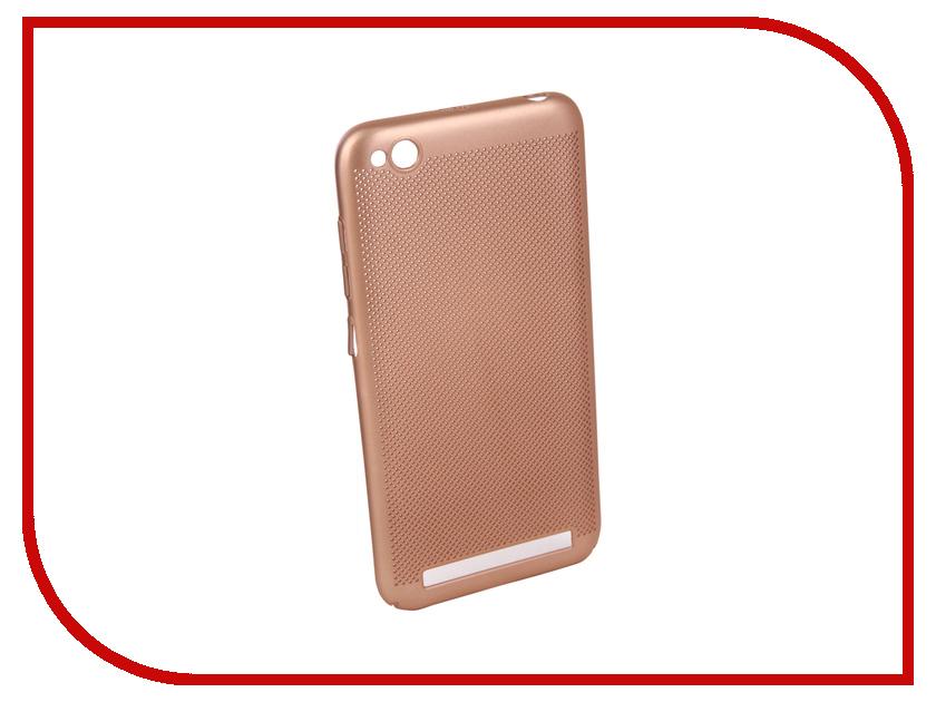 Аксессуар Чехол для Xiaomi Redmi 5A Neypo Soft Touch с перфорацией Gold ST4568 аксессуар чехол для xiaomi mi a1 neypo soft touch black st3324