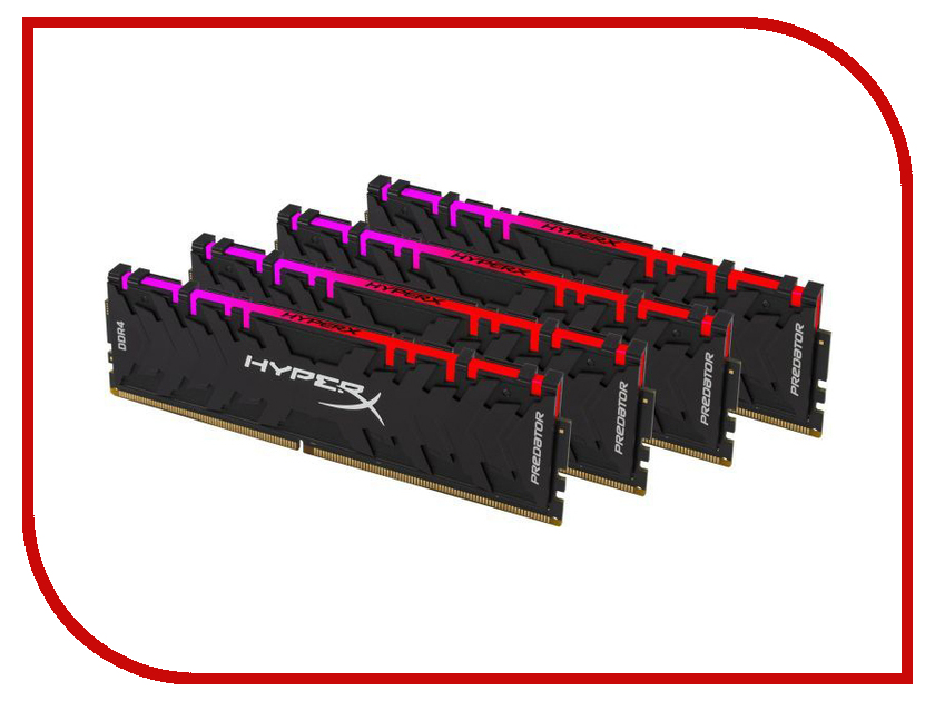 все цены на Модуль памяти Kingston HyperX DDR4 DIMM 2933MHz PC4-23466 CL15 - 32Gb KIT (4x8Gb) HX429C15PB3AK4/32