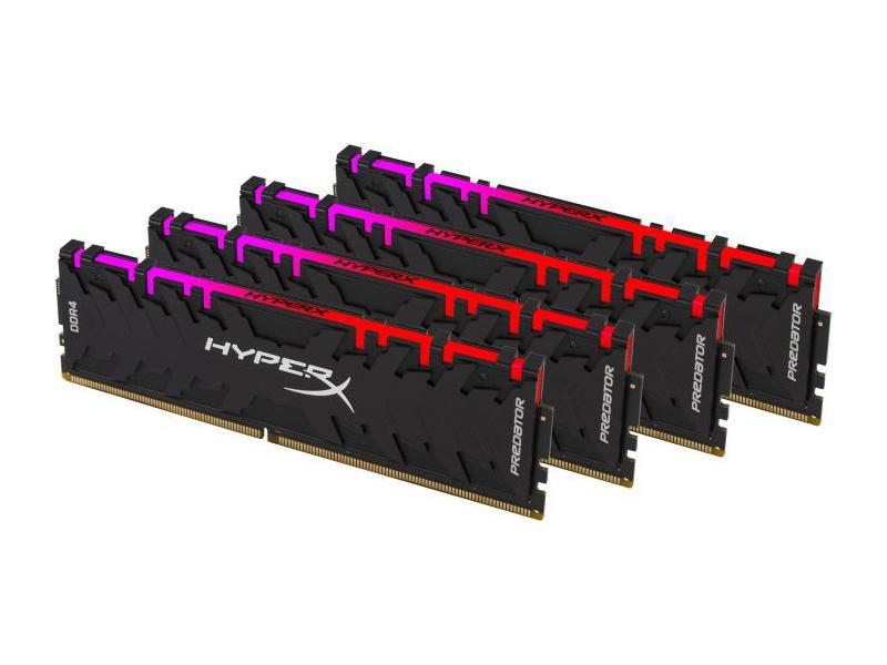 Модуль памяти Kingston HyperX DDR4 DIMM 2933MHz PC4-23466 CL15 - 32Gb KIT (4x8Gb) HX429C15PB3AK4/32