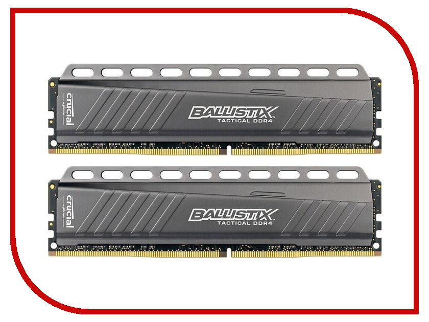 Модуль памяти Crucial Ballistix Tactical DDR4 DIMM 2666MHz PC4-21300 CL16 - 16Gb KIT (2x8Gb) BLT2C8G4D26BFT4K модуль памяти crucial ballistix sport lt red ddr4 dimm 2666mhz pc4 21300 cl16 8gb bls8g4d26bfse