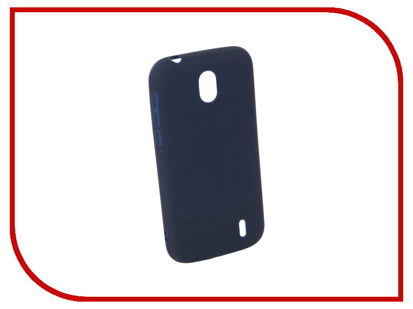 Аксессуар Чехол для Nokia 1 Neypo Silicone Soft Matte Dark Blue NST4312 аксессуар чехол для samsung galaxy a5 2017 neypo soft matte silicone black nst0214