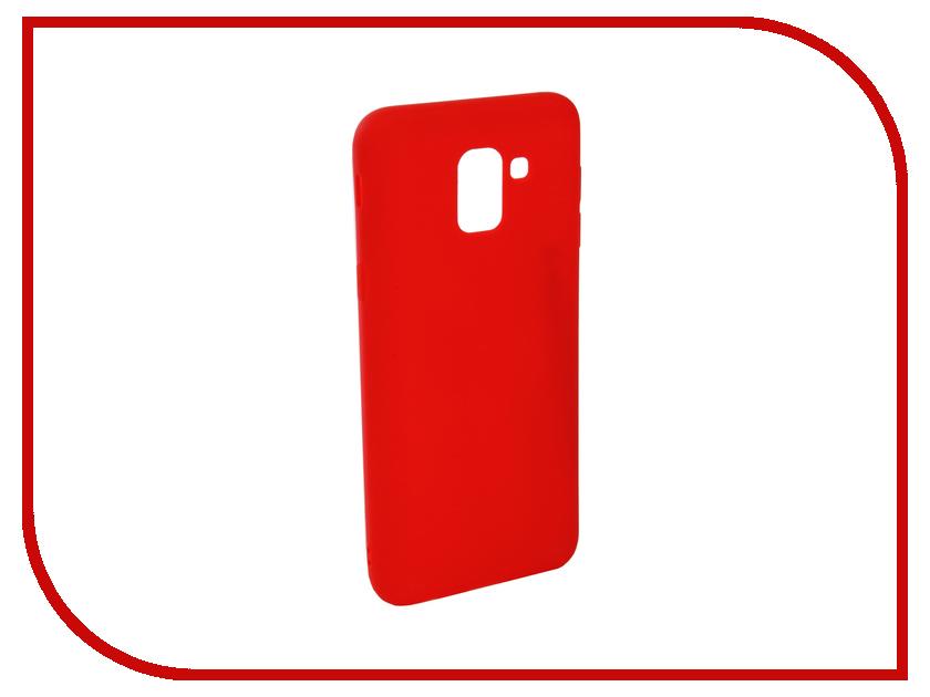Аксессуар Чехол для Samsung Galaxy J6 2018 J600F Zibelino Soft Matte Red ZSM-SAM-J600F-RED аксессуар чехол для samsung j6 2018 j600f zibelino ultra thin case white zutc sam j600f wh