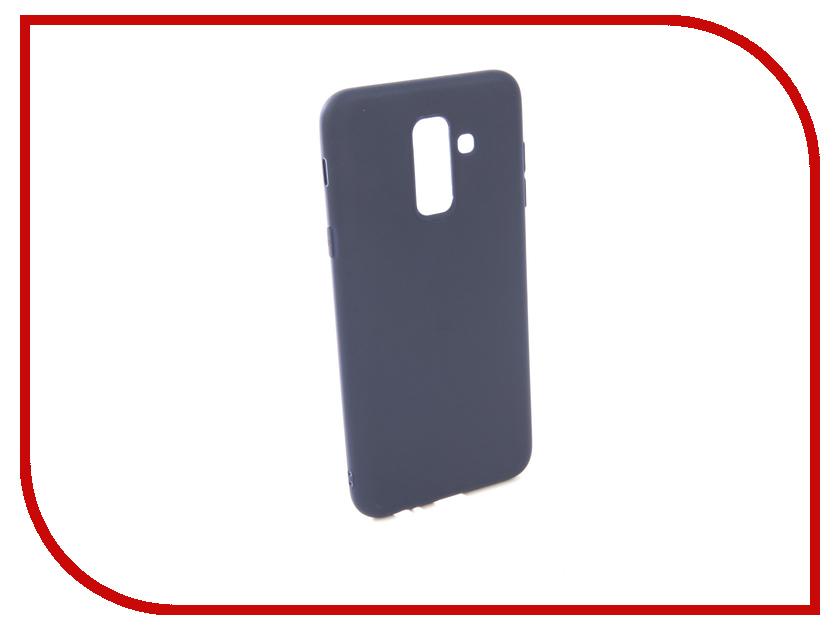 Аксессуар Чехол для Samsung Galaxy A6 Plus 2018 A605G Zibelino Soft Matte Blue ZSM-SAM-A605G-BLU