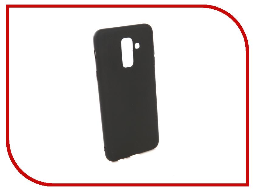 Аксессуар Чехол для Samsung Galaxy A6 Plus 2018 A605G Zibelino Soft Matte Black ZSM-SAM-A605G-BLK аксессуар чехол samsung j3 2017 j330f zibelino clear view black zcv sam j330 blk