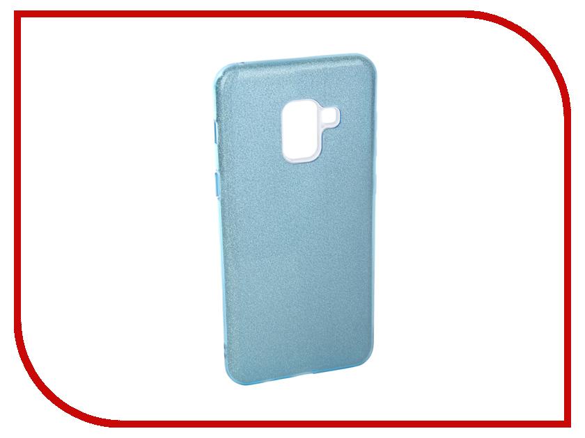 Аксессуар Чехол для Samsung Galaxy A8 2018 Neypo Brilliant Silicone Light Blue Crystals NBRL3710 аксессуар чехол для samsung a8 2018 a530 zibelino clear view blue zcv sam a530 blu