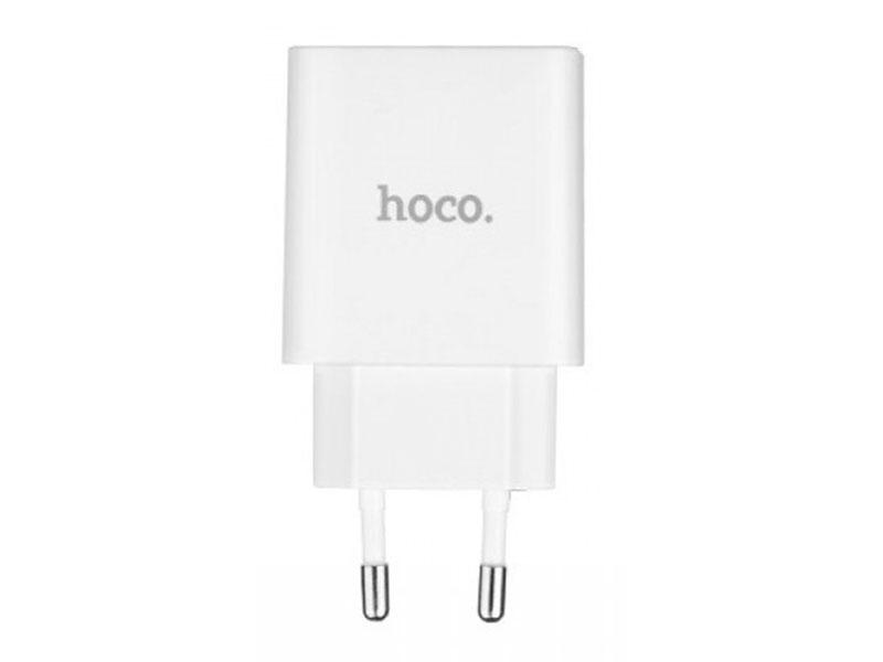 Зарядное устройство Hoco C25A Cool LED 2xUSB 4.4A White