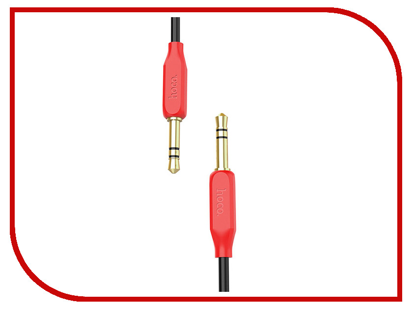 Аксессуар HOCO UPA11 3.5 Jack/M - 3.5 Jack/M Red