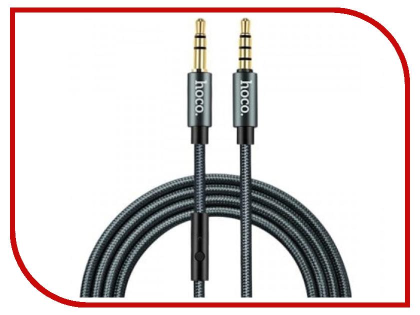 Аксессуар HOCO Noble UPA04 3.5 Jack/M - 3.5 Jack/M с микрофоном Grey аксессуар 5bites 3 5 jack m 3 5 jack f ac35j 050f 5m