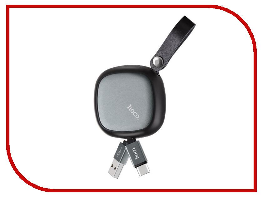 Аксессуар HOCO U33a USB - Type-C Retractable Black аксессуар hoco u16a type c gold