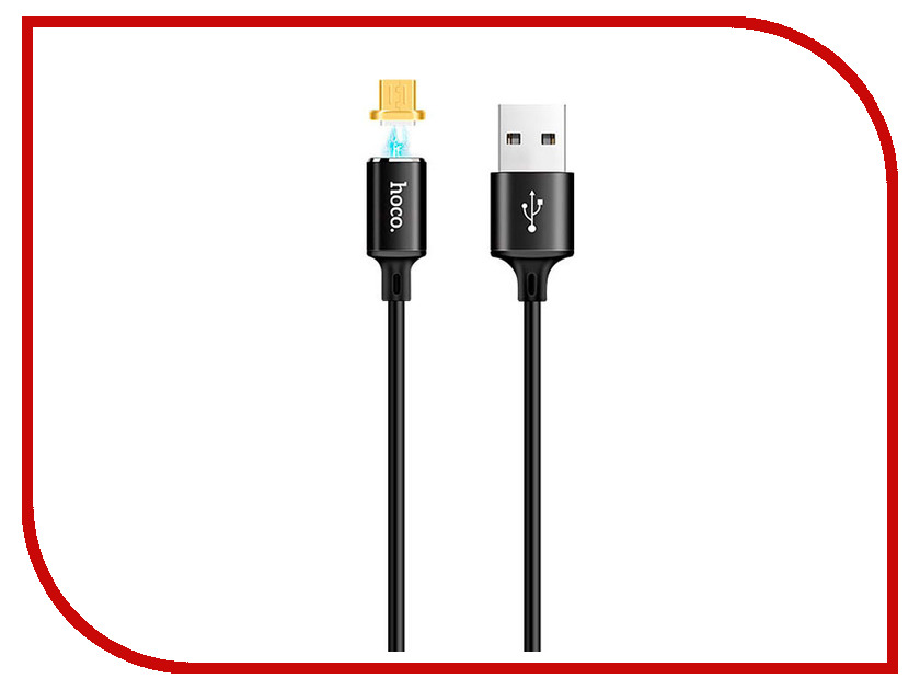 Аксессуар HOCO U28m USB - MicroUSB Magnetic Adsorption Black