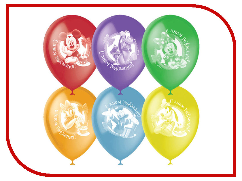 Набор воздушных шаров ПОИСК Disney С Днем Рождения 30cm 50шт 4690296041243/2035 поиск
