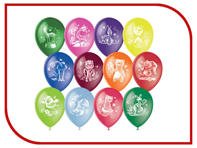 Набор воздушных шаров ПОИСК Веселый зоопарк 30cm 50шт 4690296041083 поиск