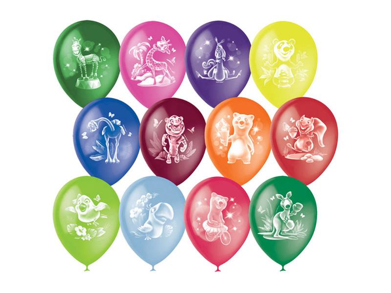 Набор воздушных шаров Поиск Веселый зоопарк 30cm 50шт 4690296041083