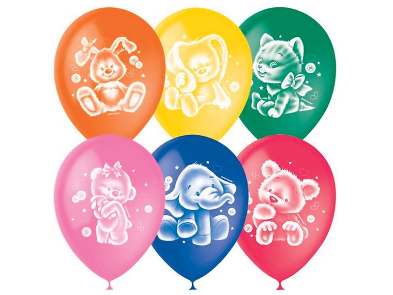 Набор воздушных шаров Поиск ПатиБум Плюшевые друзья 30cm 50шт 4690296049249