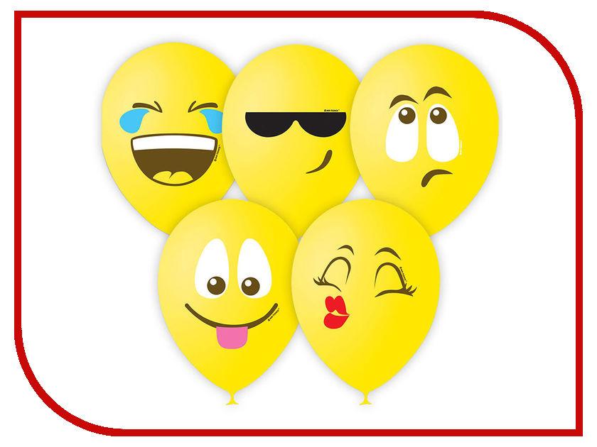 Набор воздушных шаров Поиск Эмоции 30cm 25шт 4690296046613 набор воздушных шаров поиск горошек 30cm 25шт black white 6 053 895
