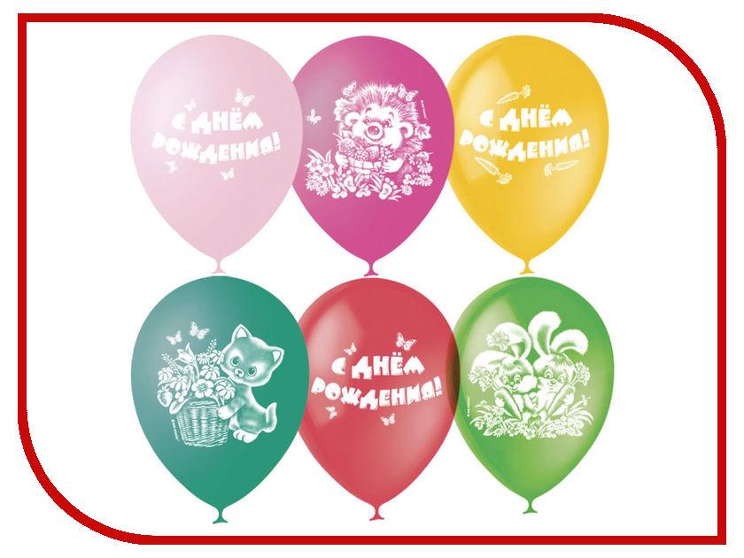 Набор воздушных шаров ПОИСК С Днем Рождения 30cm 25шт 4690296040772 поиск