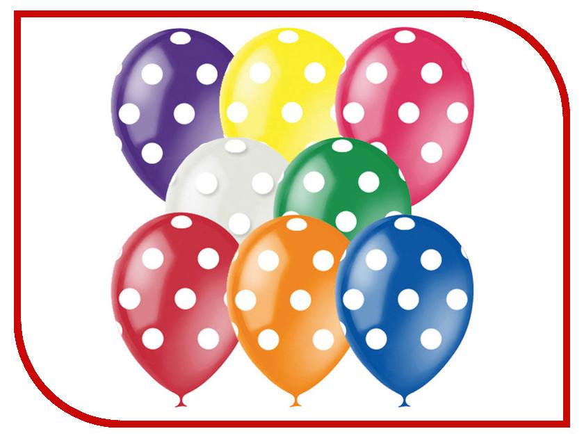 Набор воздушных шаров ПОИСК Горошек 30cm 25шт 4690296041410 поиск