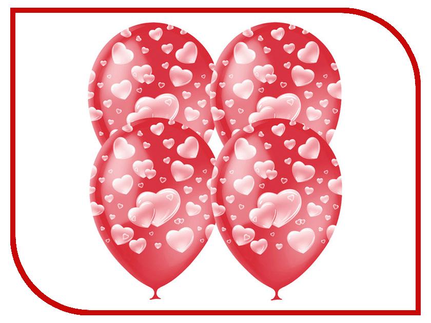 Набор воздушных шаров Поиск Cherry Red Сердца 30cm 25шт 4690296040932 набор воздушных шаров поиск горошек 30cm 25шт black white 6 053 895