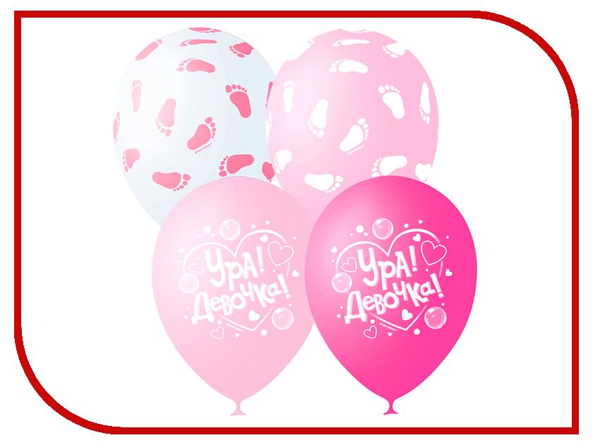 Набор воздушных шаров ПОИСК К рождению девочки 30cm 25шт 4690296049256 поиск
