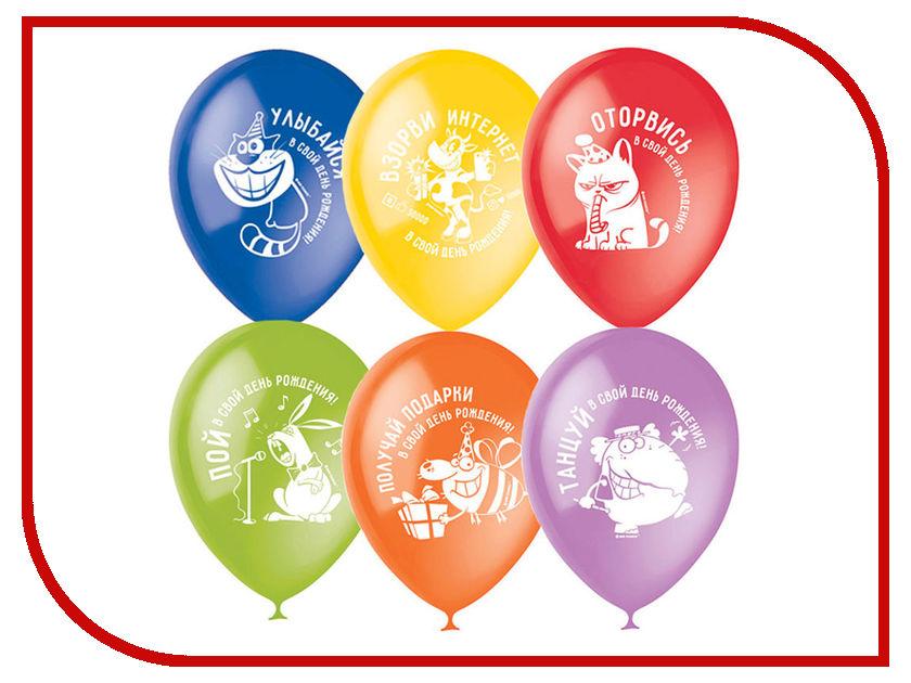 Набор воздушных шаров Поиск ПатиБум С Днем Рождения Оторвись! 30cm 100шт 4690296054106 поиск авиарейса