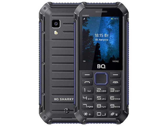 Сотовый телефон BQ 2434 Sharky Black-Blue мобильный телефон bq mobile bq 2434 sharky black blue