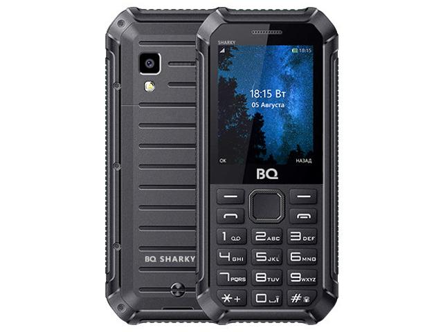 Сотовый телефон BQ 2434 Sharky Black мобильный телефон bq mobile bq 2434 sharky black blue