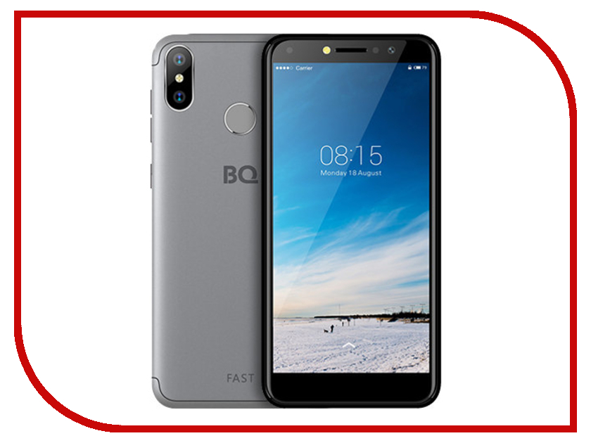 Сотовый телефон BQ 5515L Fast Titan Grey сотовый телефон senseit t100 black