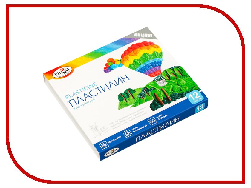 Набор для лепки Гамма Пластилин Классический 12 цветов 240g 281033