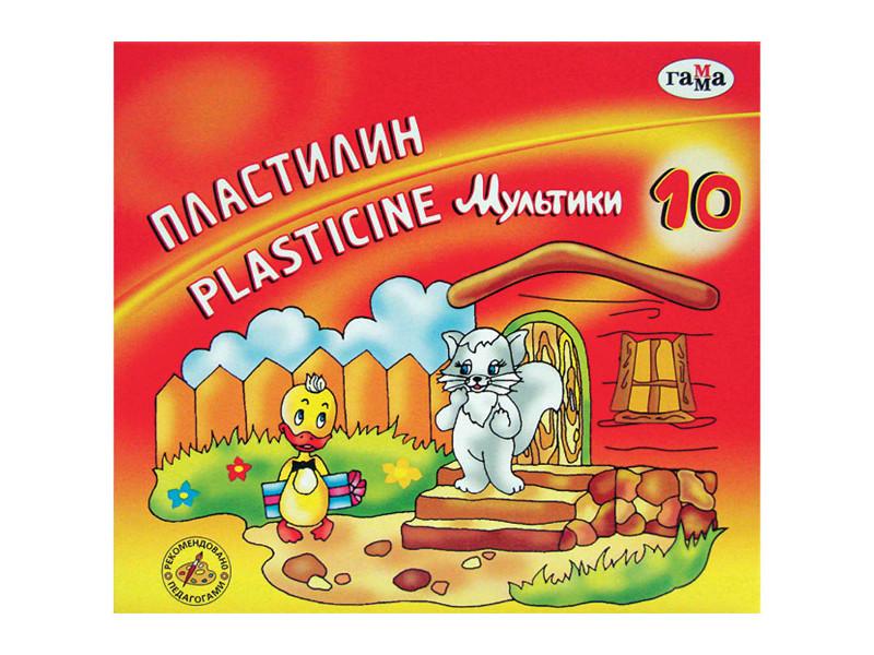 Набор для лепки Гамма Пластилин Мультики 10 цветов 200g 280017/281017 набор для лепки гамма пластилин мультики 6 цветов 120g 280015 281015