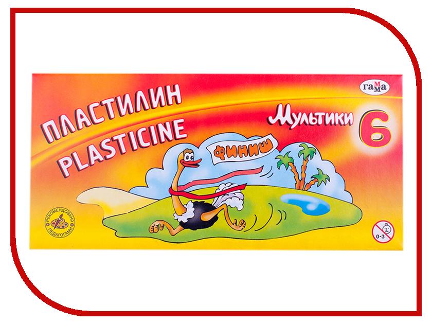 Набор для лепки Гамма Пластилин Мультики 6 цветов 120g 280015/281015 гамма набор для лепки аквариум гамма