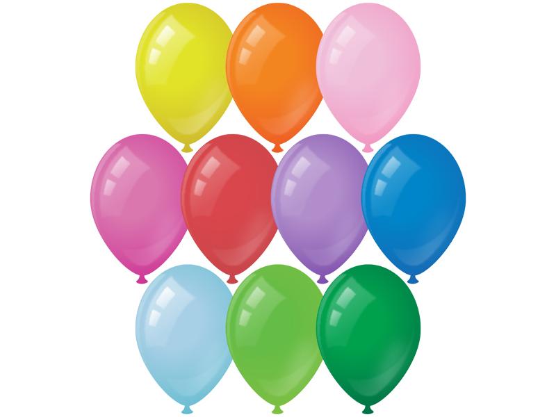 Набор воздушных шаров ArtSpace 30cm 50шт 10 цветов BL_16091