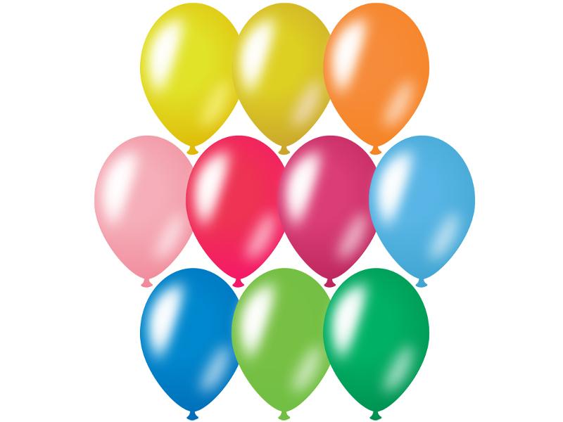 Набор воздушных шаров ArtSpace 30cm 50шт 10 цветов BL_16095